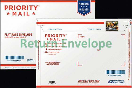 USPS Return Envelope